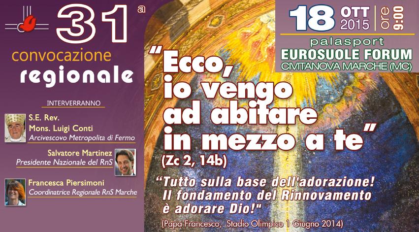 31° Convocazione Reg. RnS Marche a Civitanova Marche