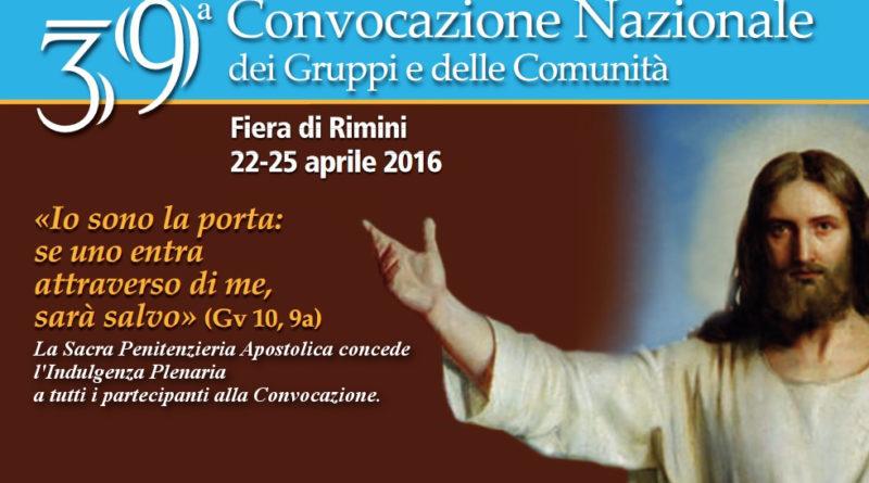Indulgenza plenaria per quanti partecipano alla 39a Convocazione Nazionale