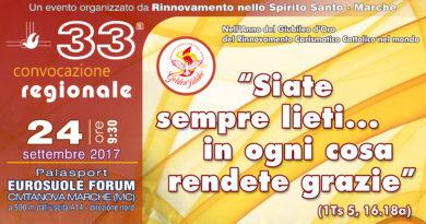 33° Convocazione Regionale RnS Marche