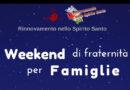 Weekend di fraternità per famiglie