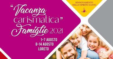 """""""Vacanza Carismatica"""" Famiglie – Loreto (AN) (1-7 agosto e 8-14 agosto)"""